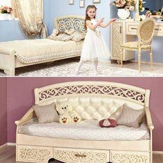 Сегодня, в Международный день девочек представляем новинку из хитовой коллекции Александрия - молодежный диван-кровать! Выполненный в стиле нео-классики, этот предмет мебели станет настоящим украшением для комнаты девочки!   Полноценное спальное место, мягкая спинка, удобные подлокотники и выдвижной нижний ящик - все самые функциональные особенности собраны в диванчике Александрия.   Скоро в продаже во всех фирменных магазинах Любимый Дом!