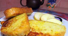 Сладкие гренки с яйцом и молоком