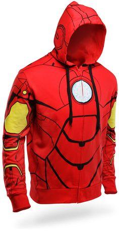 ThinkGeek :: Iron Man Costume Hoodie