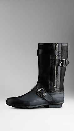 Shearling-Lined Weather Boots   Burberry