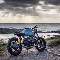 Respect Your Elders: BMW R80 mono by @woodgates_motorcycles shot by @brownhillphotography. :: #bmwmotorrad #r80 #bmwcaferacer #caferacer #tracker #respectyourelders #vintagebike #custombike
