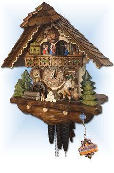 Hekas Choppers Cottage cuckoo clock 15'' - Bavarian Clockworks