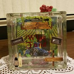 Save for that next Wine tasting trip with this unique Wine Fund Glass bank!