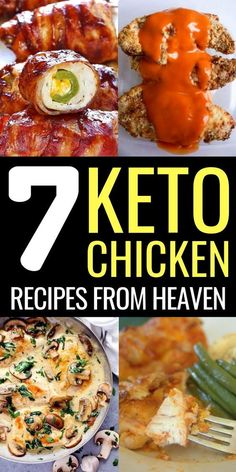 Never get bored of chicken again with these delicious keto chicken recipes. Thes… Never get bored of chicken again with these delicious keto chicken recipes. These low carb chicken recipes are perfect for lunch and dinner, try them now! Low Carb Chicken Recipes, Low Carb Recipes, Diet Recipes, Healthy Recipes, Recipes With Chicken Breast Easy, Low Carb Chicken Dinners, Pork Recipes, Cooking Recipes, Cheap Recipes