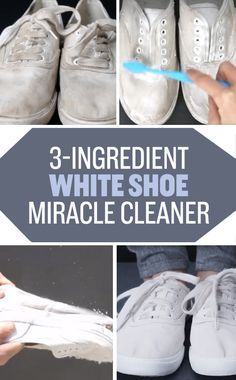 Whiten your favorite pair of faded shoes using baking soda and hydrogen peroxide and the power of the ~sun~. | 21 Brilliant Cleaning Tricks That Will Make Your Life So Much Easier