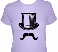 Mustache Shirt  Mr Mustache with Top Hat Shirt  by redbrickwall, $22.50