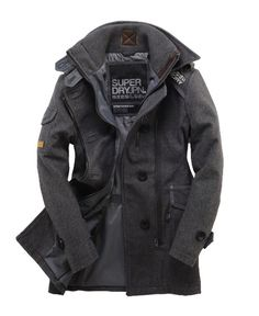 Superdry Regiment Coat. Ughhh my perfect coat. Somebody buy it for me! I just realized I've already pinned this in a different color. Haha!