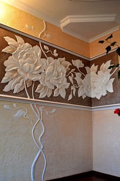 Beautiful plaster wall decor