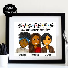 Birthday Gifts For Sister, Personalized Birthday Gifts, Unique Birthday Gifts, Best Friend Birthday, Sister Gifts, Big Sister Little Sister, Little Sisters, Order Form, Family Print