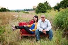Engagement shoot with our settee