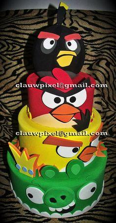 Angry Birds Cake, para Ana Paula Salviano - Santos - SP
