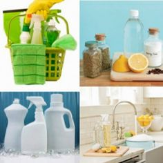 Homemade Cleaning Supplies  http://www.squiggleswiggles.com/2012/06/gettin-clean-homemade-cleaning-supplies.html