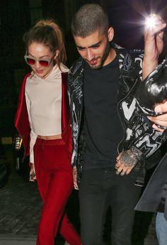 Zayn Malik and Gigi Hadid Hold Hands, Kiss at His Album Release ...
