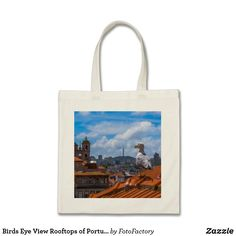 Birds Eye View Rooftops of Portugal Tote Bag