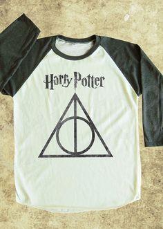 Harry Potter tshirt Deathly Hallows tshirt women tshirt by chictee, $18.00