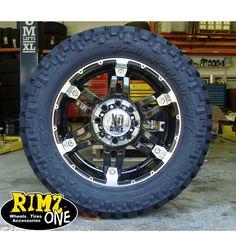 """www.rimzoneonline.com - 20"""" XD Spy Blk Machined Nitto Trail 35x12.50-20 E"""