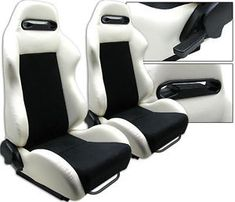 "new 1 pair white pvc leather black suede adjustable racing seats all ford - Categoria: Avisos Clasificados Gratis  Item Condition: New1 PAIR WHITE & BLACK RACING SEATSADJUSTABLE SEATS SLIDERSFits on ALL FORDNew in the Original PackageHigh QualityMade of PVC LeatherWHITE Area & SuedeBLACK AreaSold in 1 Pair 2 SeatsDeep: 23""Wide: 21""Tall: 35""Weight: 35 lbs eachThese seats are designed for universal fit It come with universal adjustment bracket sliders on the seat frame but adaptorsbrackets are…"