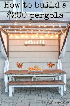 How to Build a Super Frugal Pergola