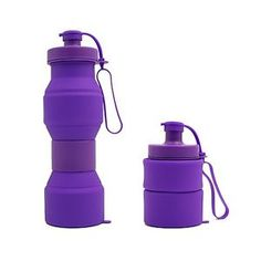 Collapsible Folding Water Bottle for Sport Camping Hiking Outdoor Travel very Compact and Portable 27oz