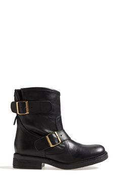 Can't get enough of these black Steve Madden moto boots.
