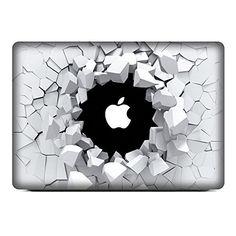 """NetsPower® à la mode Colorful Vinyle Décalque Autocollant Avant Sticker Power-up Art Noir pour Apple MacBook Pro 13"""" - Trou Brisé NetsPower http://www.amazon.fr/dp/B00Z64ZBCM/ref=cm_sw_r_pi_dp_z.rNwb13YAB4D"""