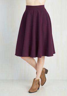 Bugle Joy Skirt in Plum, @ModCloth
