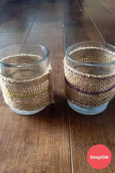 Two candle holders accented with burlap coverings. This rustic style  is great for decorating the interior of your rooms and throws off a nice warm light. Comes with complete with new tea lights. Asking $20. Find this and other great deals locally in your community on www.varagesale.com