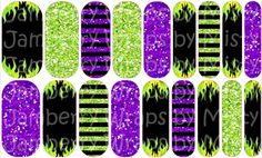 Maleficent (Sleeping Beauty) Jamberry Nails $25.00 (includes design, shipping and handling). Order yours at www.magicaldistractions.com