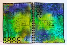 Tutorial - Art journal with Dylusions ink sprays, Tim Holtz Sizzix dies, stencils from Tim, StencilGirl Products and Prima. http://www.marjiekemper.com/art-journaling-with-dylusions-ink-sprays-tutorial/