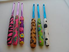 Polymer clay crochet  hook  This listing is for by CrochetHarvest, $5.00