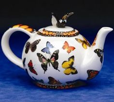 The Twiggery - Tea Party - butterflies teapot, butterfly teapot