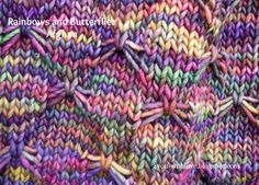 4 You With Love: Rainbows and Butterflies - A Malabrigo Rasta Afghan. Arco Iris color