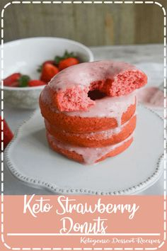 Eating these Keto Strawberry Donuts is like taking a bite out of paradise. With their amazing flavor and texture, you'll never believe they're low carb Healthy Crockpot Recipes, Crockpot Meals, Easy Recipes, Best Cake Recipes, Dessert Recipes, Delicious Magazine Recipes, Elegant Desserts, Good Food, Yummy Food