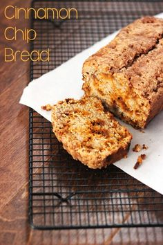 """Cinnamon Chip Quick Bread. Cinnamon chips are """"in season"""" at retailers this time of year so stock up!"""