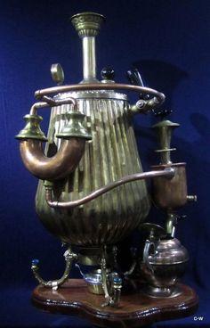 Steampunk Coffee Machine Sculpture - STEAMPUNKOZ, Etsy