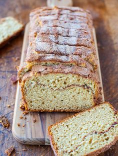 Cinnamon-Sugar Crust Cinnamon-Ribbon Bread recipe from @Averie Sunshine {Averie Cooks}