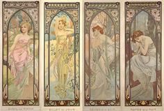 """mysticjc:  Alphonse Mucha """"Alfons Maria Mucha (Ivančice, 24 July 1860 – Prague, 14 July 1939), often known in English and French as Alphonse..."""