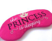 The Princess is Sleeping Satin Sleep Eye Mask in Hot Pink