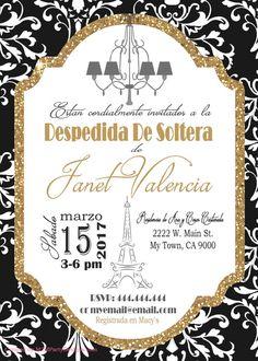 Despedida de Soltera Paris Invitacion. Torre by M2MPartyDesigns