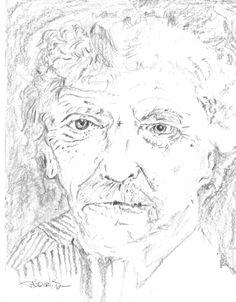 Murt Twainegut - Combination sketch of Mark Twain and Kurt Vonnegut