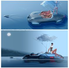 Amphibia by vadim gousmanov, via Behance Car Design Sketch, Car Sketch, Hover Car, Scene Image, Interior Sketch, Car Illustration, Mechanical Design, Science Fiction Art, Cool Sketches