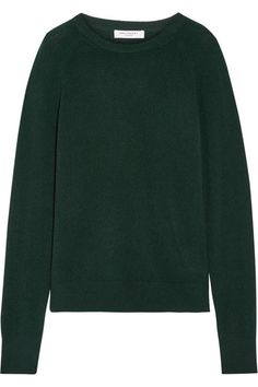 A seasonal alternative to black, Equipment updates its classic 'Sloane' sweater in a rich emerald hue. This cashmere design has a relaxed fit and a soft mid-weight handle. Wear it with cropped pants and glossy boots.