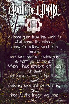 Crown The Empire - Millennia <3 One of my two favorite songs of theirs.