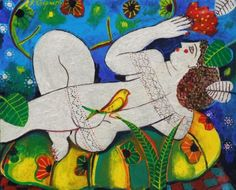 View Woman with Red Ventalia By Vasilis Sperantzas; Access more artwork lots and estimated & realized auction prices on MutualArt. Contemporary Decorative Art, Naive Art, Flower Art, Folk Art, Rooster, Objects, Pastel, Symbols, Email Campaign
