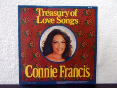 Connie Francis Treasury Of Love Songs. 1984 vinyl LP 33 by AbqArtistry, $5.00 Kiss Me Goodbye, Connie Francis, Cant Stop Loving You, 2nd Anniversary, Lp Cover, That's Love, Love Songs, Vinyl Records, Albums