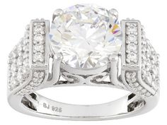 3385af389 Charles Winston For Bella Luce (R) 8.76ctw White Diamond Simulant Rhodium  Over Sterling