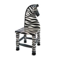 How to create a Zebra stripe chair for a Jungle room theme or Savanna Room theme Wow,  isn't this a stunning piece of children's furniture! Hand carved and hand painted, this numbered, …