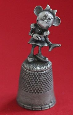 Disney Vintage Minnie Mouse collector pewter thimble #babescollectibles