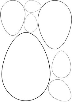 Cut out the size of egg for your egg template. Use for Easter crafts www. Easter Bunny Template, Easter Templates, Bunny Templates, Easter Printables, Easter Egg Pattern, Printable Templates, Easter Art, Easter Projects, Bunny Crafts
