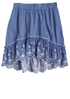 dELiAs > High-Low Embroidered Skirt > bottoms > skirts > view all skirts